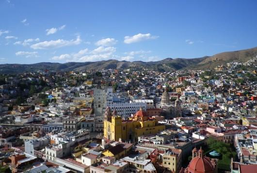 Vue depuis le Mont Pipila sur Guanajuato