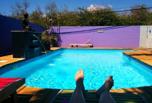 La foule à la piscine du Vacoa ;)
