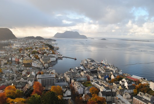Panorama du Mountain Top - Alesund