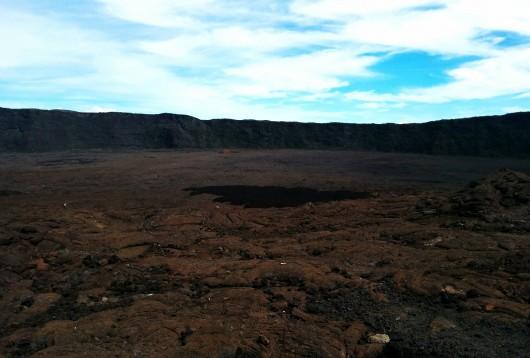 L'enclos vu du volcan
