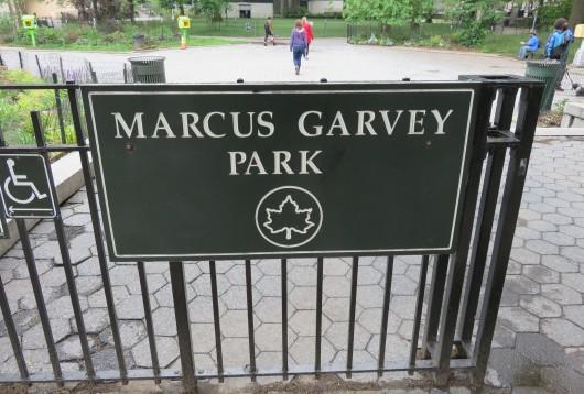 Le Marcus Garvey Park à Harlem
