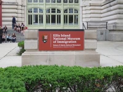 Entrée du musée d'Ellis Island